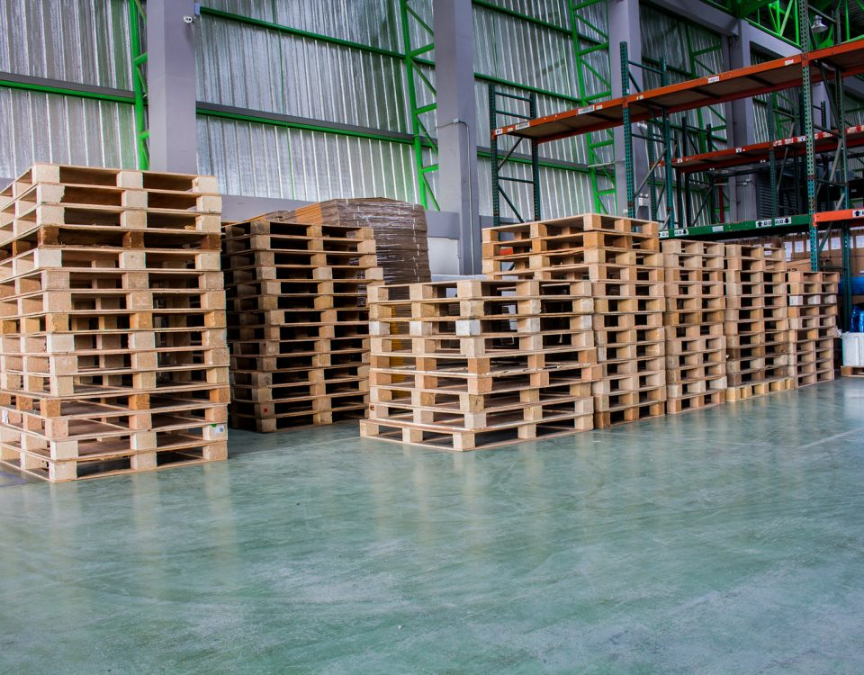 pallets inside warehouse